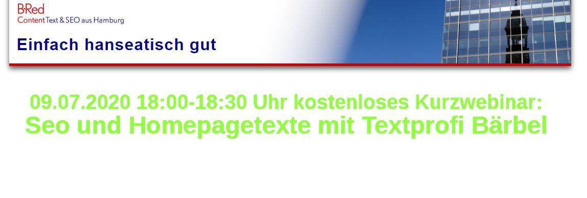 "Kurzwebinar ""Seo- und Homepagetexte"""