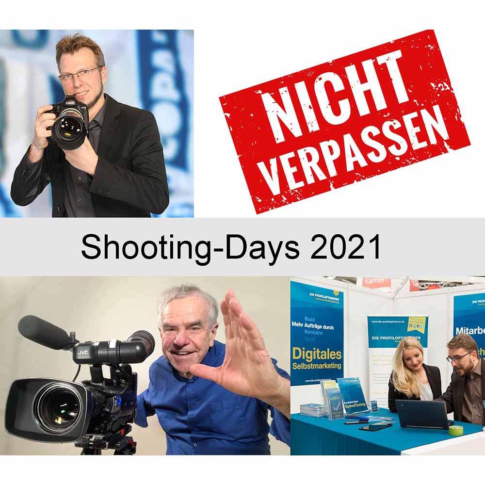 Shooting-Days 2021 (Rabatt für M-Point Mitglieder) So optimieren Sie Ihren Business-Auftritt mit Foto, Video und Web